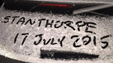Residents and the hundreds of visitors who flocked to Queensland coldest town marked the occasion four years ago.