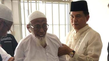 Yusril Ihza Mahendra (right) had lobbied Widodo for Bashir's early release.