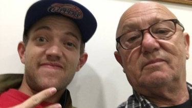 Liam Anderson with his father, Angry Anderson.