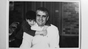 Daniel Mezrani and his father, Ramy in 2004.