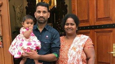 Priya and Nadesalingam with Tharunicaa.