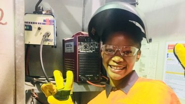 Ashley Msimango is eyeing a career in industrial design after undertaking the first welding course last year.
