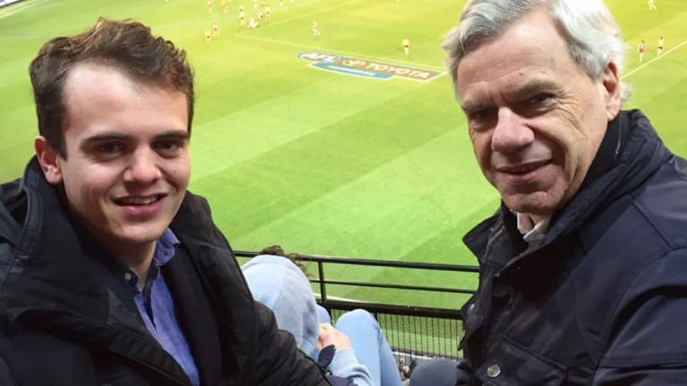 Liberal Party Victorian president Michael Kroger with his protege Marcus Bastiaan.