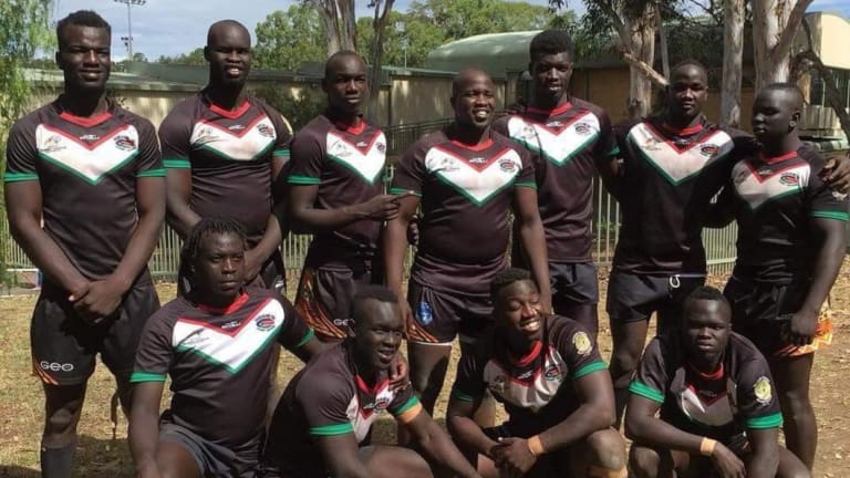 Giant strides: The Blacktown-based Africa United team.