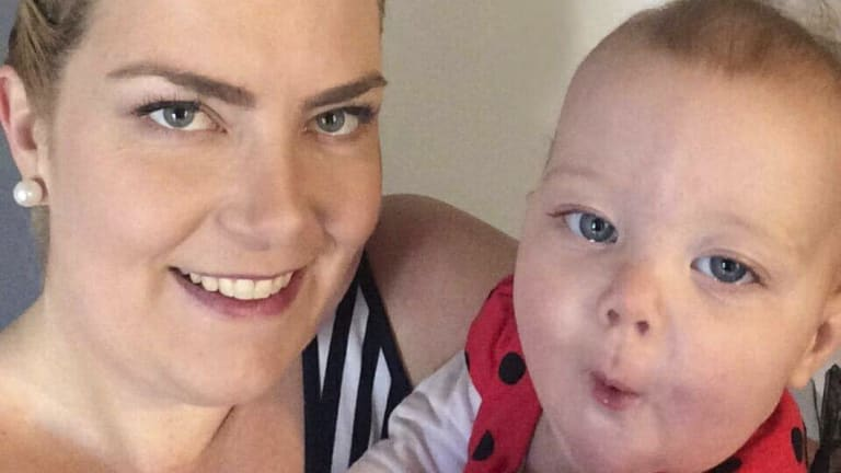 Vanessa Fritz and her daughter. Fritz has just started a maternity concierge business.