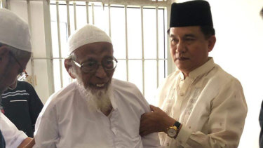 Yusril Ihza Mahendra (right) had lobbied Widodo for Bashir's early release.