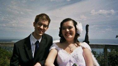 Alysia and Mathew on their wedding day.