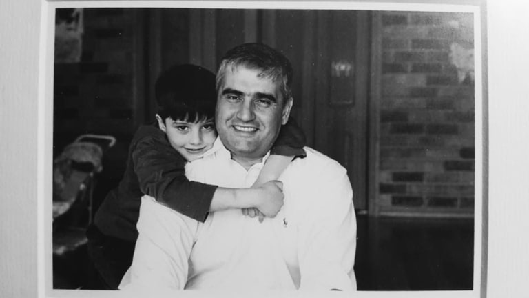 Daniel Mezrani and his father, Ramy in 2004.