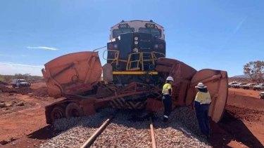 Train vs truck near Fortescue Metals Group's Eliwana mine.