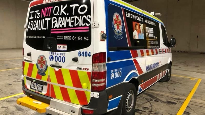 'Not OK': Paramedics paint ambulances in outrage over attack sentence