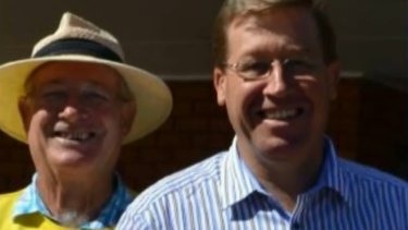 Kenneth Grant and his son, former NSW police minister Troy Grant.