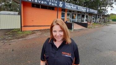 Perth Hills Caravan Park owner Shorrelle Watkins.