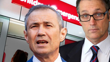 Mark Olson (right) says Health Minister Roger Cook should sack the executive team at PCH.