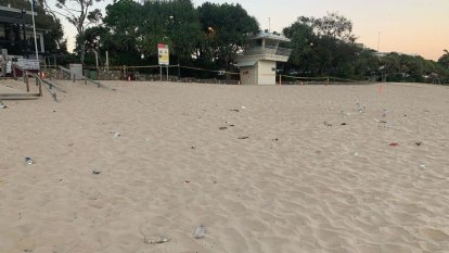 Noosa's Main Beach reopens after major clean-up following Schoolies spree