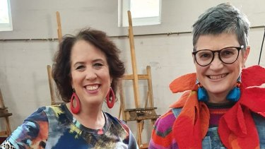 Life Drawing Live will bring together life models and life-drawing experts to provide advice, including artist Wendy Sharpe (left) and Dr Maryanne Coutts, Head of Drawing at Sydney's National Art School.