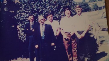 A young Fred Becker, third from left, pictured with his brothers Alex, Kevin and Ron and father Alex Snr.