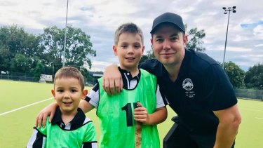 The Collier family are heavily involved with the Ryde Hunters Hill District Hockey Club and father Tim is concerned about how social distancing measures will be implemented.