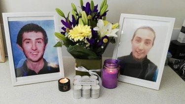 The father of Aaron Pajich (pictured) has been awarded compensation over his son's brutal killing.