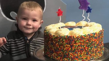 Damon, 2, was injured in an alleged hit-run outside his family's Laverton home on Sunday night.