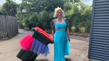 Bin Isolation Outing founder Danielle Askew started the globally popular practice of putting out her bin in costume.