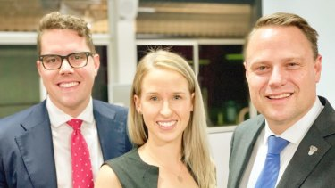 Brisbane City Councillors Ryan Murphy, Lisa Atwood and Adrian Schrinner.