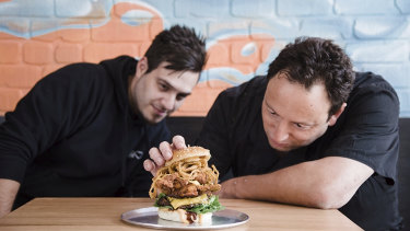 """Steve Agi and Chris Binos, co-founders of Burger Love said the restaurant chain has a """"love hate"""" relationship with food delivery platforms."""