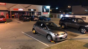 Up to five cars had their front and back wheels clamped in Scarborough on Thursday night.