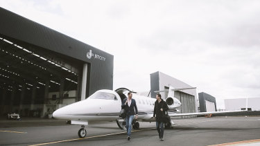 Airly founder Luke Hampshire said the private jet market in Australia is small.