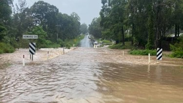 Flash flooding in the Logan region late last month. More of the same could be on its way around the south-east.