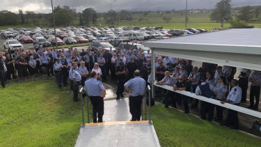 Queensland Corrections staff striking at Woodford Correctional Centre.