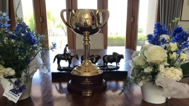 The Melbourne Cup trophy from 2017 has been stolen from a cafe in Melbourne's north-west.