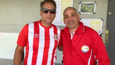 Pioneers: Buddy Farah and Remy Wehbe have forged footballing  links between the Lebanese community in Australia and the mother country.