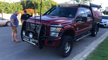 The Ford F250 charity car when it was found on Sydney Street in Kedron on Boxing Day.