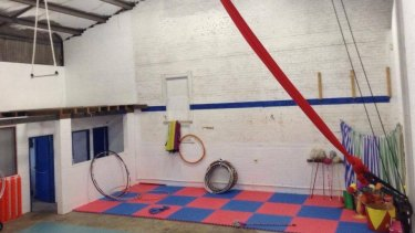 Inside the Katoomba circus school.