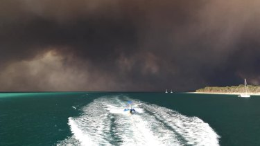 The bushfires and their impact on Fraser Island in late November, still burning almost two months after being sparked by an alleged illegal and poorly extinguished campfire.