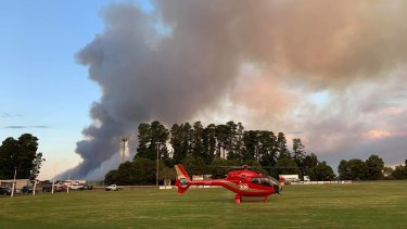 Emergency crews battled the blazes at the Bunyip State Park for days.