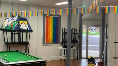 The outback pub has been transformed for Mardi Gras.