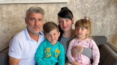 Martha Walkowsky, husband Brian Fisher, and twins Phoebe and George are stranded in the UAE.