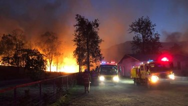 The Thornton bushfire in Queensland's Lockyer Valley. Firefighters are no longer needed on that firefront.