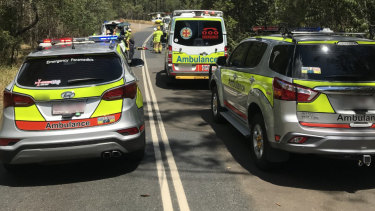 A jogger was hit by a vehicle on the Glasshouse Mountains.