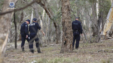 Police search in bushland near Goulburn as part of the investigation into the suspicious disappearance of Samah Baker.
