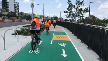 Cyclists want safer paths around Brisbane.