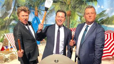 Richard Wilkins, Karl Stefanovic and Tim Gilbert on Nine's Today show.