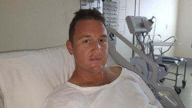 Constable Hayden Edwards is recovering in hospital after he was stabbed at Central Station.