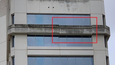 The reason for concern regarding the stability of Townsville's Suncorp Bank building.