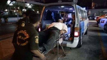 Thai democracy activist Sirawith Seritiwat, 27, was attacked on Sunday.