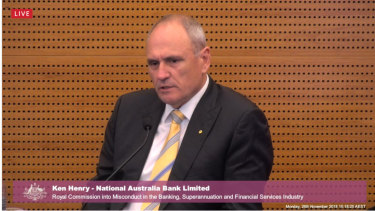 """NAB chairman Ken Henry: """"I don't know if that's what has produced it, but had there been less complacency, I do believe that we would have seen less misconduct, indeed."""""""