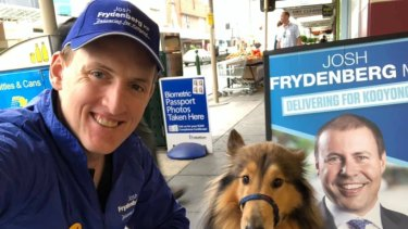 Former Liberal HQ staffer John Osborn has made a number of appearances at Josh Frydenberg campaign events.