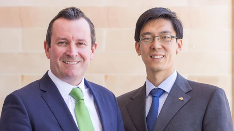 Premier Mark McGowan and Labor MP Pierre Yang.