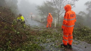 Scenic Rim SES had 14 crews helping with damage across the region following severe storms.